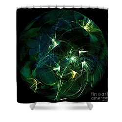 Garden Sprites Come At Night Shower Curtain by Elizabeth McTaggart