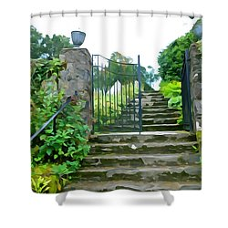 Garden Steps Shower Curtain by Charlie and Norma Brock