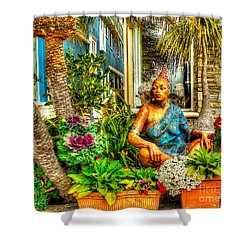 Shower Curtain featuring the photograph Garden Tranquility by Jim Carrell