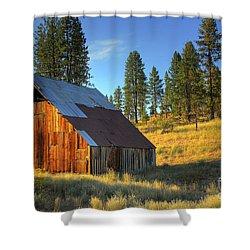 Garden Valley Barn Shower Curtain by Sam Rosen