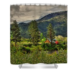 Garden Valley Shower Curtain by Sam Rosen