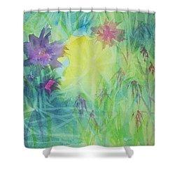 Garden Vortex Shower Curtain by Ellen Levinson