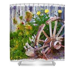 Garden Whhel Shower Curtain