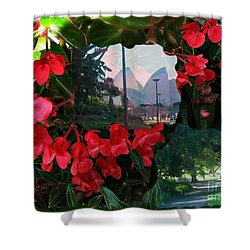 Shower Curtain featuring the photograph Garden Whispers by Leanne Seymour