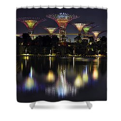 Gardens By The Bay Supertree Grove Shower Curtain by David Gn
