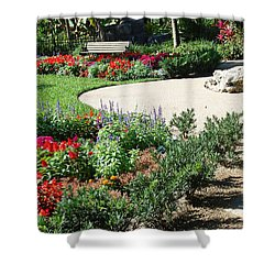 Gardenscape Shower Curtain by Aimee L Maher Photography and Art Visit ALMGallerydotcom
