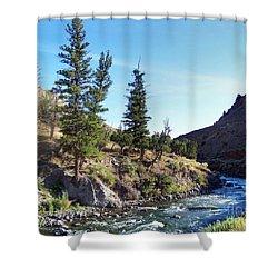 Gardiner River Shower Curtain