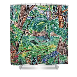 Garfield Garden Shower Curtain