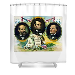 Garfield Lincoln And Mckinley In Memoriam Shower Curtain by War Is Hell Store