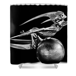 Gargoyle Hood Ornament 2 Shower Curtain by Jill Reger