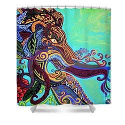 Gargoyle Lion 3 Shower Curtain by Genevieve Esson