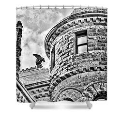 Gargoyle Shower Curtain by Mark Alder