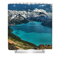 Garibaldi Lake Blues Greens And Mountains Shower Curtain