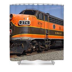 Garibaldi Locomotive Shower Curtain by Wes and Dotty Weber