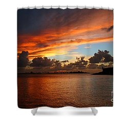 Garita En Atardecer Shower Curtain