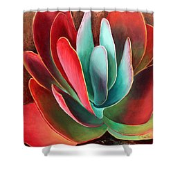 Shower Curtain featuring the painting Garnet Jewel by Sandi Whetzel