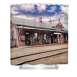 Garrison Train Station Colorized Shower Curtain