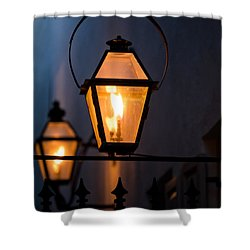 Gas Lights Shower Curtain