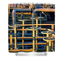 Gas Plant Valves Shower Curtain