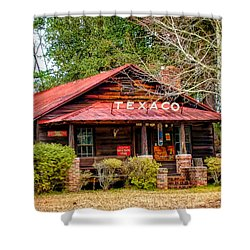 Shower Curtain featuring the photograph Gas Station 1 by Dawn Eshelman