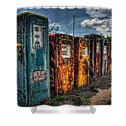 Shower Curtain featuring the photograph Gasoline Alley by Ken Smith