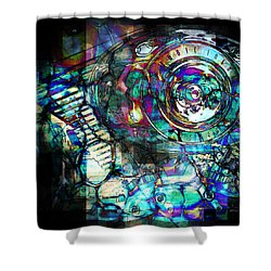 Gasoline Motorcycle Engine Shower Curtain