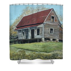 Gates Chapel - Ellijay Ga - Old Homestead Shower Curtain