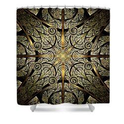 Gates Of Creation Shower Curtain by Anastasiya Malakhova