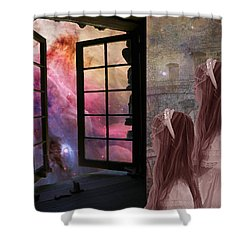 Gates Of Heaven-regarder La Fin Du Monde Shower Curtain