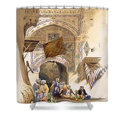 Gateway Of A Bazaar, Grand Cairo, Pub Shower Curtain by A. Margaretta Burr