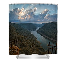 Shower Curtain featuring the photograph Gateway To Autumn by Jaki Miller