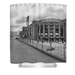 Gateway To Busch Black And White Shower Curtain