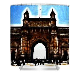 Gateway To Fractalius Shower Curtain