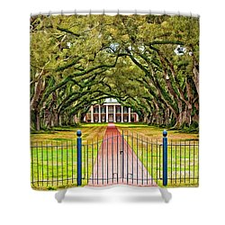 Gateway To The Old South Paint Shower Curtain by Steve Harrington