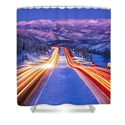 Gateway To The Rockies Shower Curtain by Darren  White