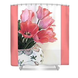 Gathered Tulips Shower Curtain