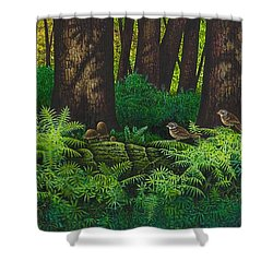 Gathering Among The Ferns Shower Curtain