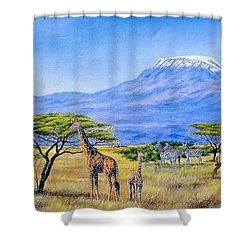 Gathering At Mount Kilimanjaro Shower Curtain