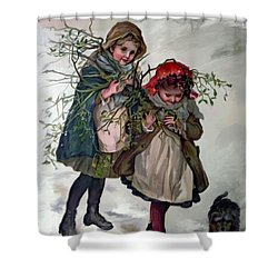 Gathering Mistletoe Shower Curtain