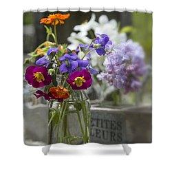 Gathering Wildflowers Shower Curtain by Edward Fielding