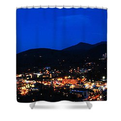 Gatlinburg Skyline At Night Shower Curtain by Nancy Mueller