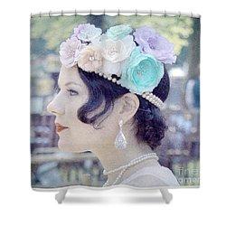 Gatsby Girl  Shower Curtain