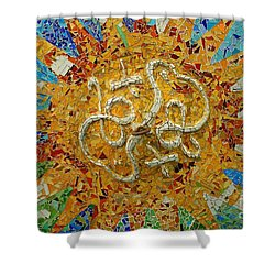 Shower Curtain featuring the photograph Gaudi Art by Mariusz Czajkowski