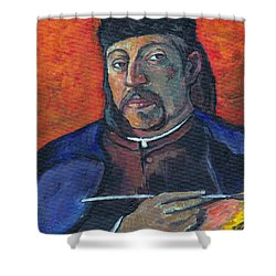 Gauguin Shower Curtain by Tom Roderick