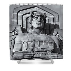 Guardian Of Traffic II Shower Curtain