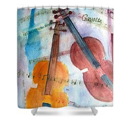 Shower Curtain featuring the painting Gavotte by Sandy McIntire