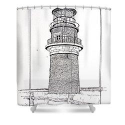 Gay Head Light Shower Curtain by Ira Shander