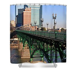 Gay Street Bridge Knoxville Shower Curtain