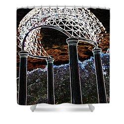 Shower Curtain featuring the photograph Gazebo 1 by Minnie Lippiatt