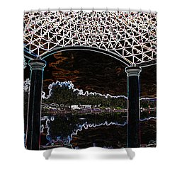 Shower Curtain featuring the photograph Gazebo 2 by Minnie Lippiatt